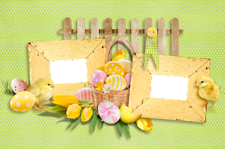 Marcos, Tarjetas o Invitaciones Retro para Pascua para Imprimir Gratis.