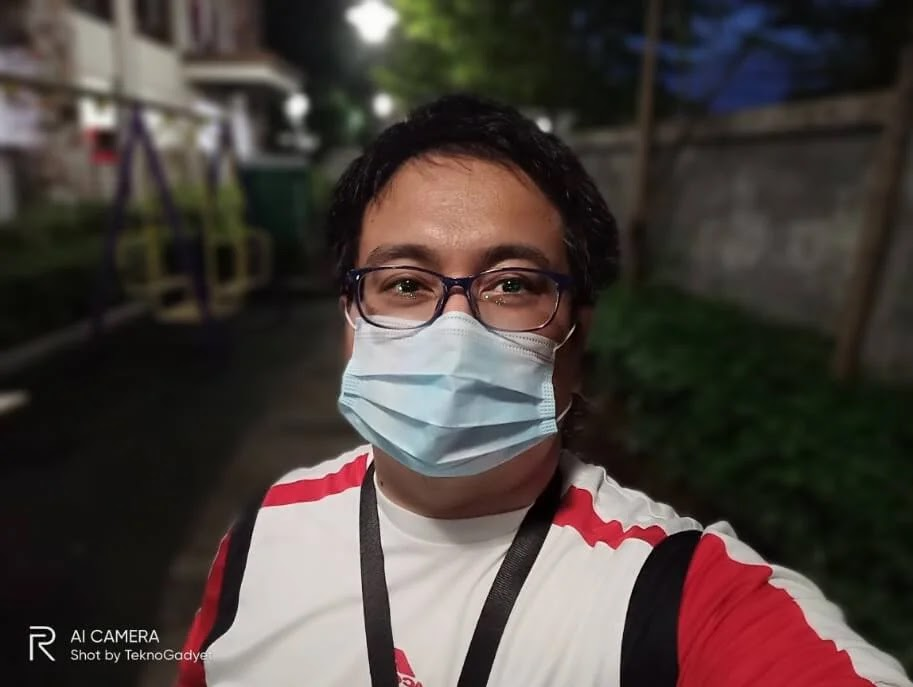 Realme 6 Camera Sample - Outdoor, Night, Portrait Selfie with Mask