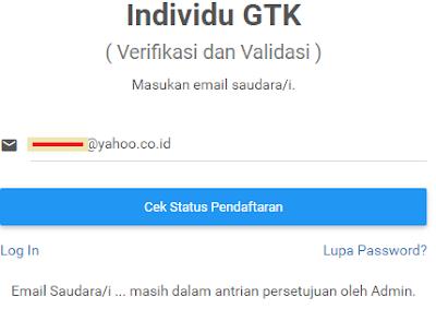 gambar cek status pendaftaran
