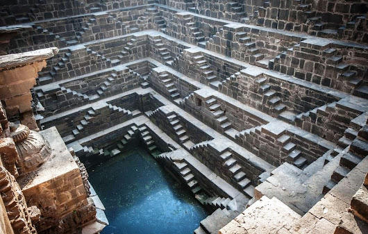 Ancient Step Wells - Down To Water Table