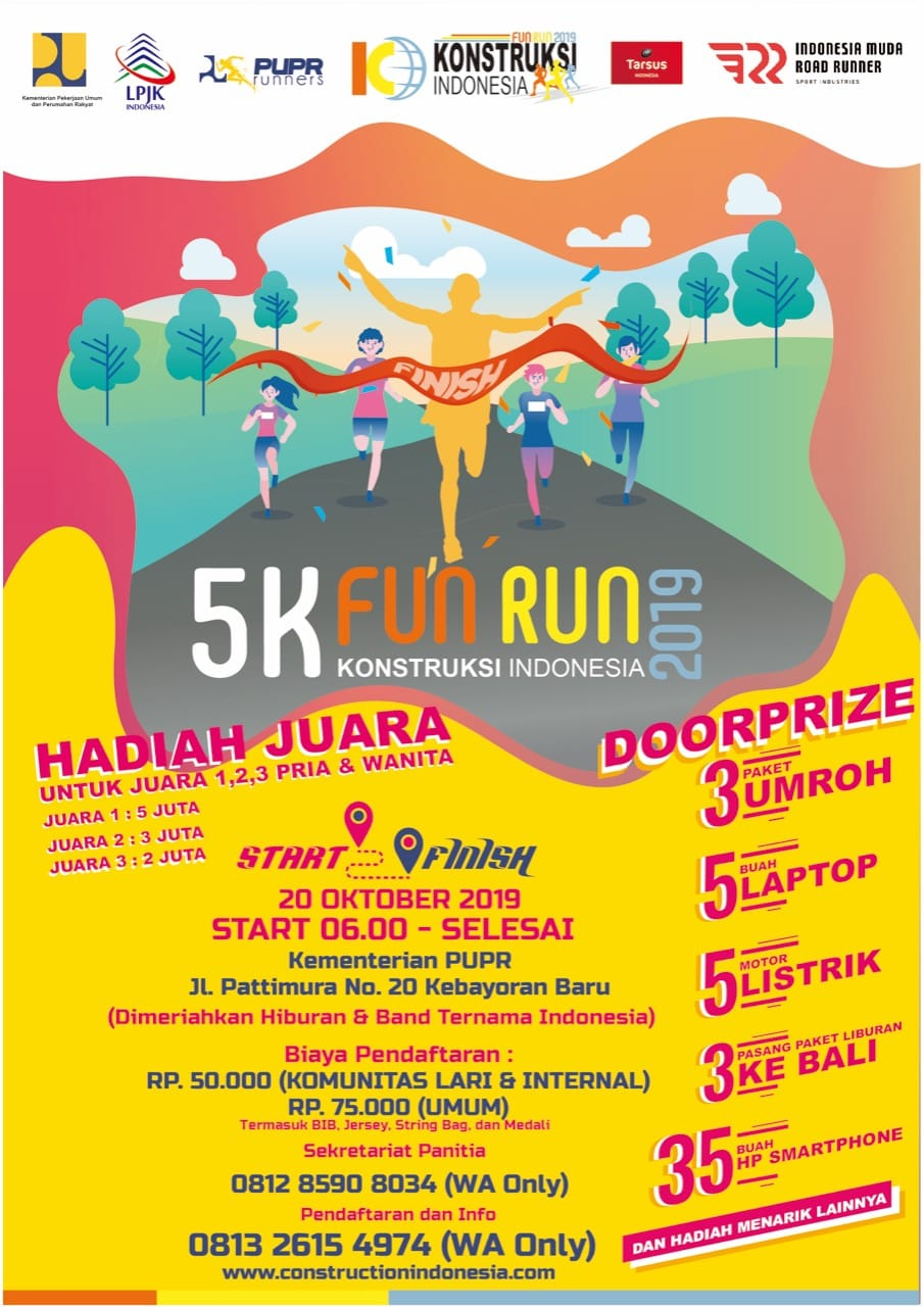 Konstruksi Indonesia Fun Run • 2019