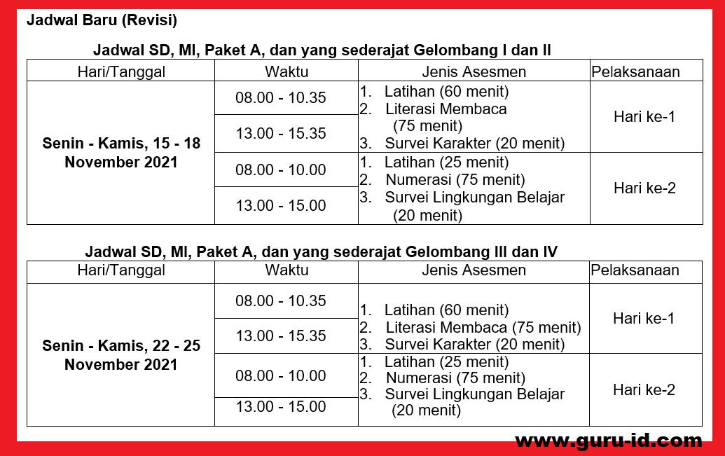gambar jadwal anbk revisi sd
