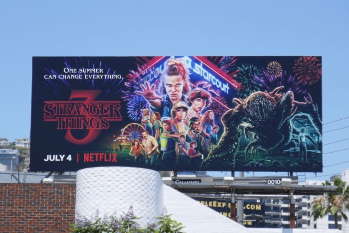 Stranger Things 3 billboard