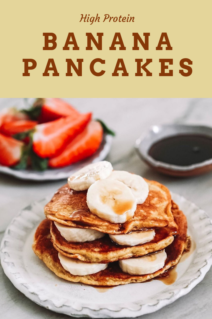 Easy 5 Minutes High Protein Banana Pancakes for your Breakfast