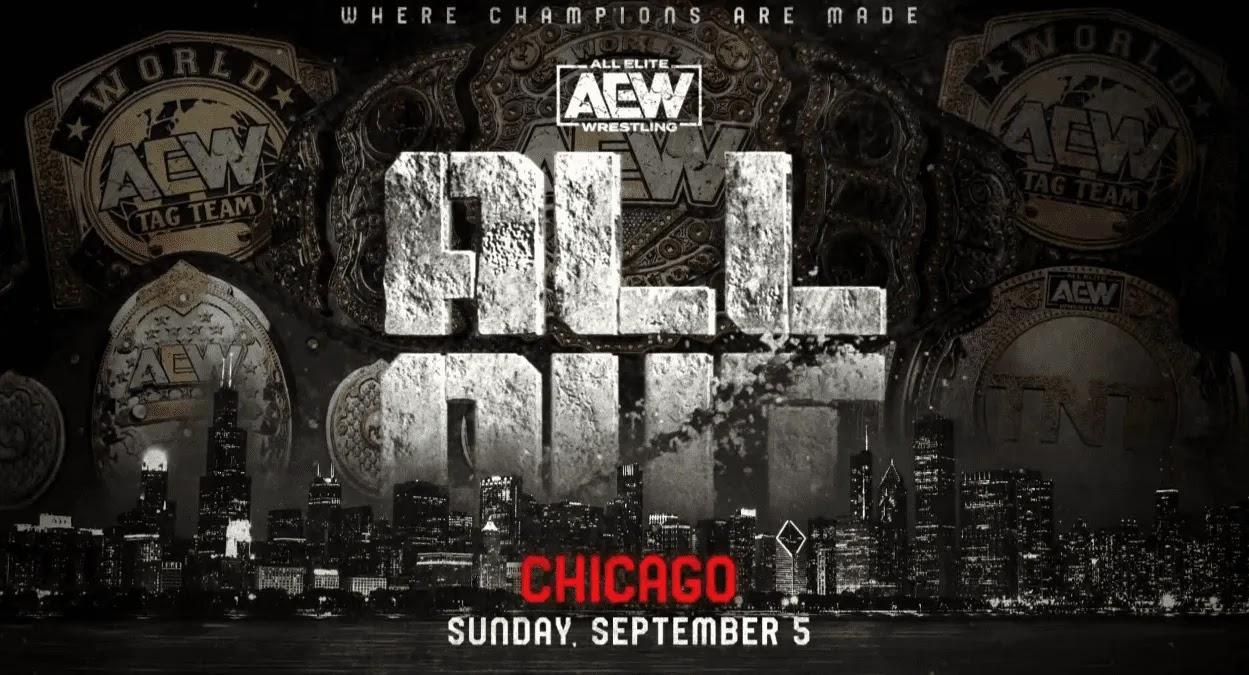 CM Punk em destaque no pôster do AEW All Out