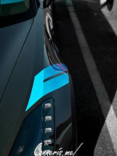 Chevrolet C7 Corvette Grand Sport Cyan Hash Stripe