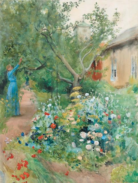Carl Larsson - Garden Scene