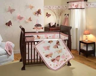cuarto de bebe marrón rosa