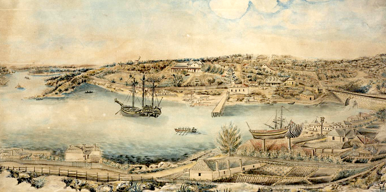 Port Jackson, Sydney from the Rocks
