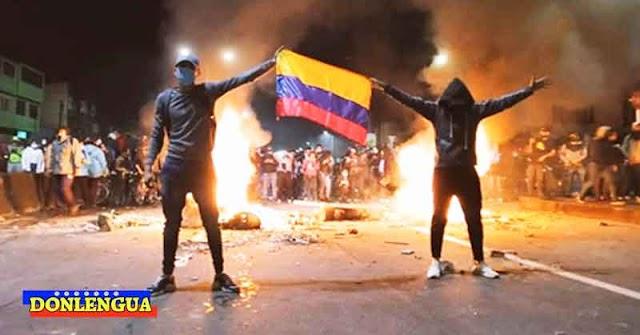 Vandalismo de Colombia es el mismo originado hace meses en Chile por el Chavismo