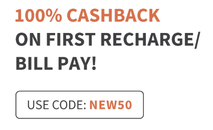 Freecharge | 100% Cashback On First Recharge/Bill Pay