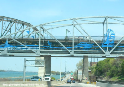 Bridge Art - Niagara Falls Expressway in New York
