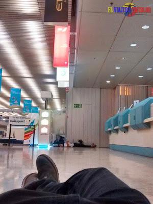 Dormir en el aeropuerto de Ginebra