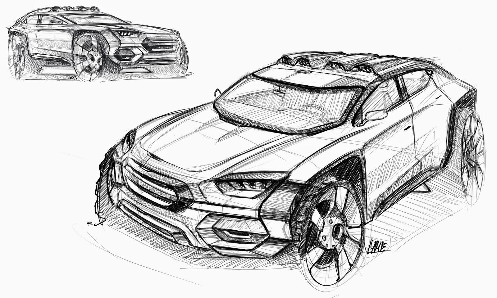 I Sketch Cars All Day Oktober