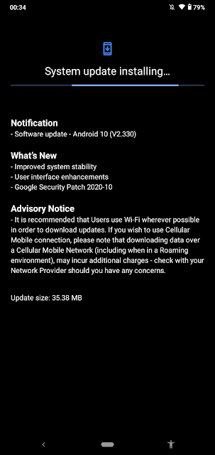 Nokia 2.3 receiving October 2020 Android Security patch