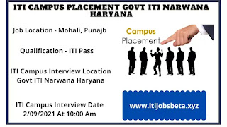 ITI Campus Placement 2021