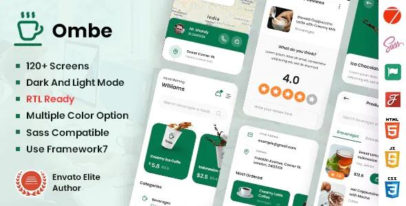 Best Coffee Shop Mobile App Template