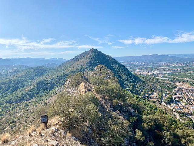 Mountains of Xativa Castle, Valencia Region, Spain