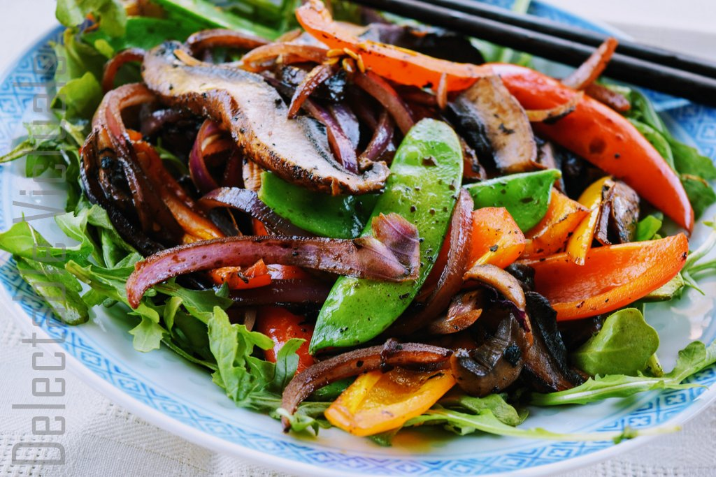 Stir-fried Portobello Mushrooms tamari asian fusion