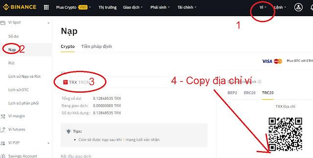 (4) Get TRX coin address