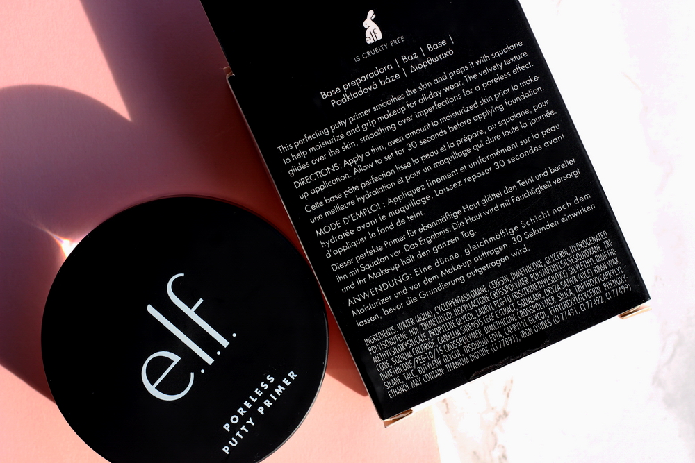 elf Poreless Putty Primer Inhaltsstoffe
