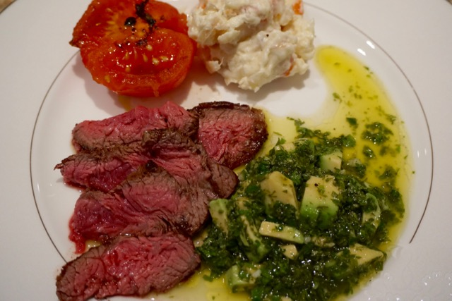 Norio on Wine and Food: Flat iron steak with Chimichurri sauce with ...