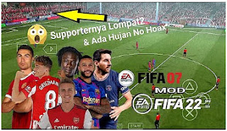 Download FIFA 07 MOD FIFA 21 PPSSPP New Update Transfer And Kits & Team Promotion Best HD Graphics
