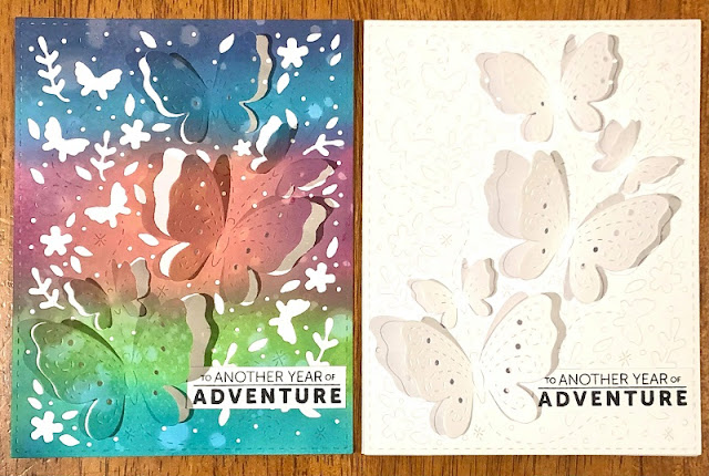 #CTMHVandra, thin cuts, butterfly, Butterflies, Distress Oxide, adventure, #ctmhWander, color dare, camping, Triangles, Birds, inspiration, Birthday, blending,