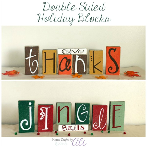 Make your own double sided holiday blocks