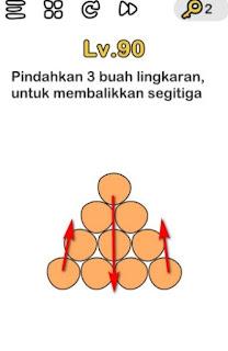 Pindahkan 3 Buah Lingkaran Untuk Membalikkan Segitiga Brain Out
