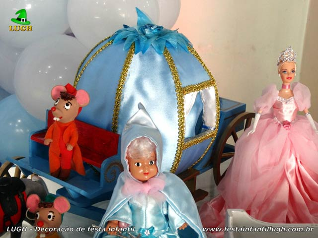 Decoração de aniversário tema Cinderela - Mesa temática provençal
