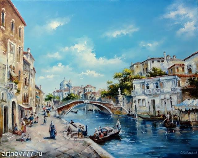 Солнечный день в Венеции. картина