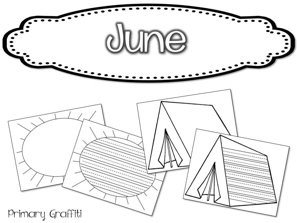 Primary Graffiti: Monthly Writing Paper Freebie!
