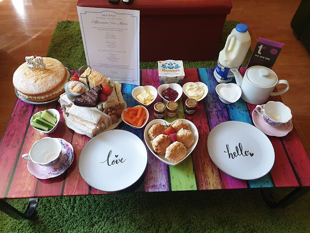 DIY afternoon tea set up