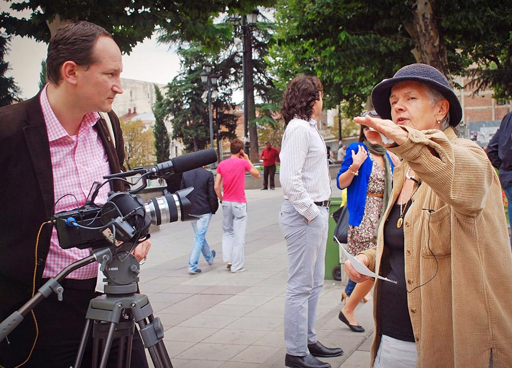З Лесею Гонгадзе на вулицях Тбілісі. 13 вересня 2012 р.