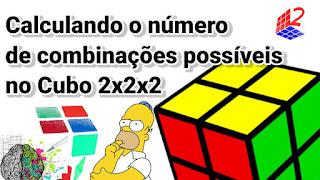 Combinações possíveis no cubo mágico 2x2x2