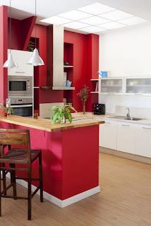 foto cocina pequeña moderna
