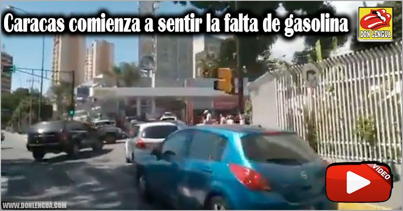Caracas comienza a sentir efectos de la falta de gasolina