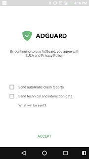 konfigurasi adguard for android