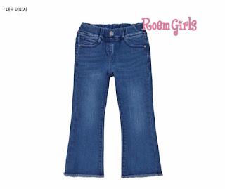 Quần jean xuất Hàn Quốc bé gái, Roem Girl made in vietnam, size từ 4-9T.