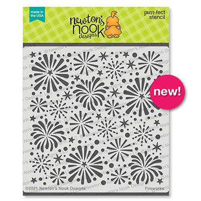 Fireworks Stencil by Newton's Nook Designs #newtonsnook