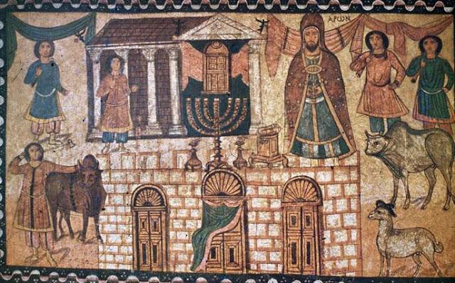 Ευρωπός Dura Ο Ααρών, τοιχογραφία από την συναγωγή της πόλης 3ος αι. μ. Χ.