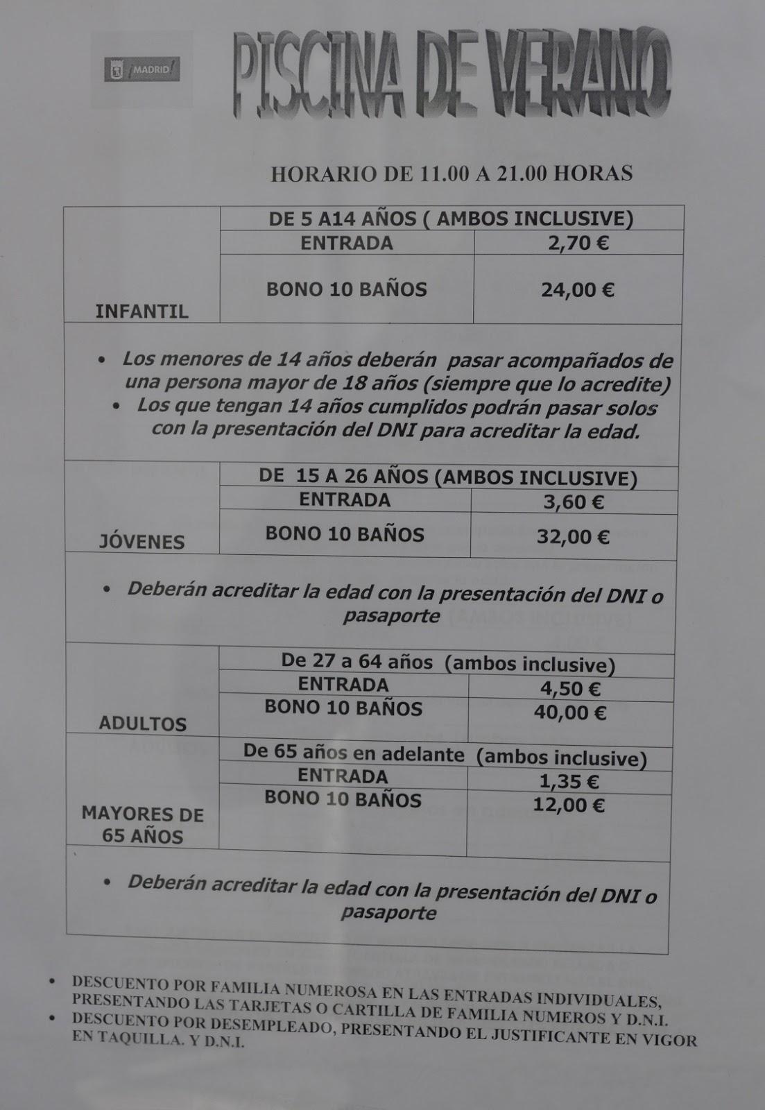Julio 2016 gu a de aluche for Piscina municipal aluche