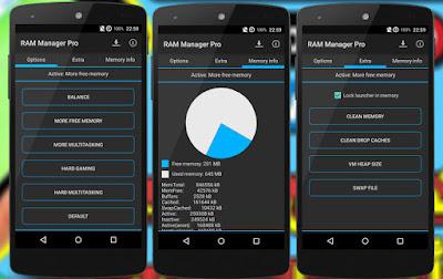تطبيق RAM Manager Pro لزيادة حجم الرام, تطبيق RAM Manager Pro لتحسين ذاكرة الوصول العشوائي