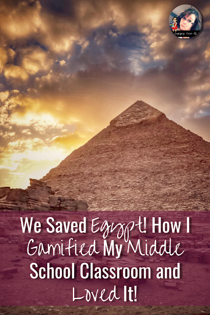We Saved Egypt Activities: How I Gamified My Middle School Classroom and Loved It! #middleschool #ancientegypt #gamification #egypt #lessonplans