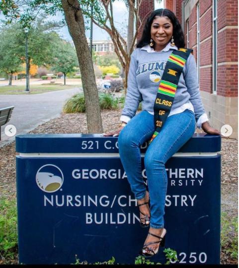 """MC Oluomo's daughter, Nofisat bags a degree in nursing in US"""