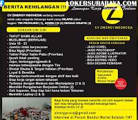 Berita Kehilangan di CV. Zinergy Indonesia Surabaya Juli 2020