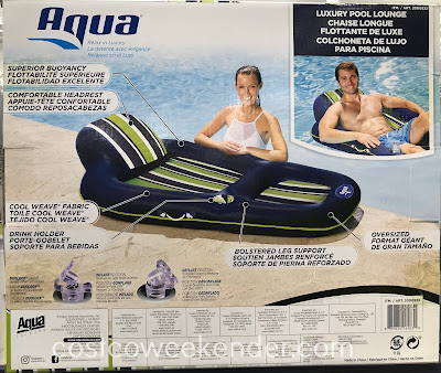 Costco 2000523 - Aqua Luxury Pool Lounge: summer can't come any sooner
