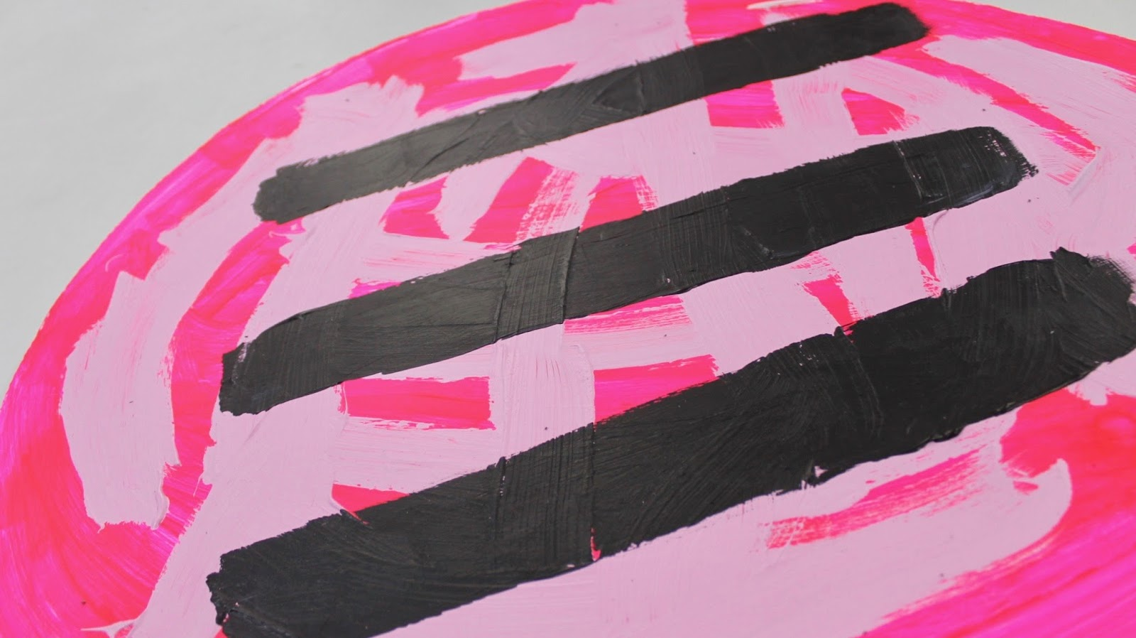 Pink Stripped Balloon Backdrop
