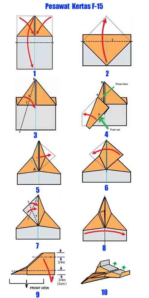 Cara Membuat Pesawat Kertas Yang Bisa Terbang Super Jauh: Simple Articles: [Origami] Teknik Membuat Pesawat Terbang